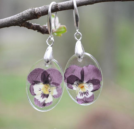 Pansy Earrings.