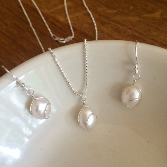 Pearl Jewellery. Jewellery Set.
