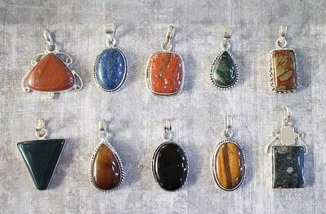 jewelry with gemstones
