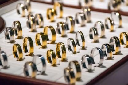 multiple gold rings