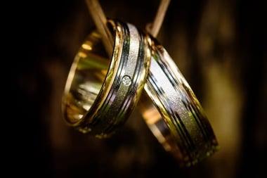 black gold detailed ring